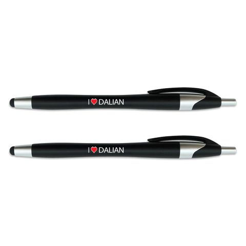 I Love Dalian Stylus Ball Point Pen 2 Pack
