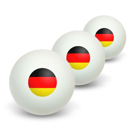 German Germany Flag Novelty Table Tennis Ping Pong Ball 3 Pack
