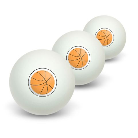 Basketball Novelty Table Tennis Ping Pong Ball 3 Pack