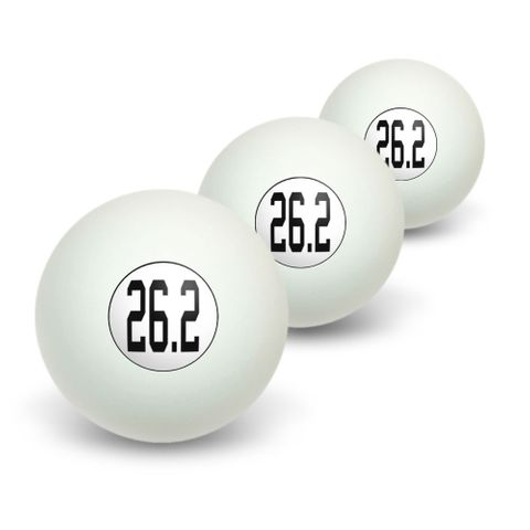 26.2 marathon - running jogging Novelty Table Tennis Ping Pong Ball 3 Pack