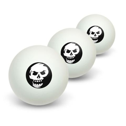 Skull Abstract Novelty Table Tennis Ping Pong Ball 3 Pack
