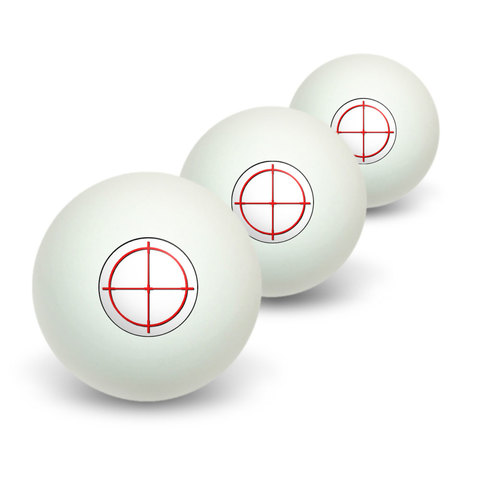 Sniper Scope Sight Target Novelty Table Tennis Ping Pong Ball 3 Pack