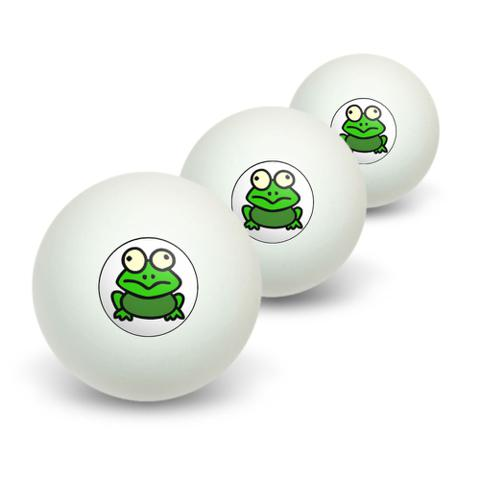 Frog Toad Novelty Table Tennis Ping Pong Ball 3 Pack