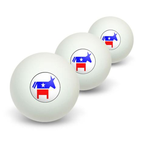 Democrat Donkey Novelty Table Tennis Ping Pong Ball 3 Pack