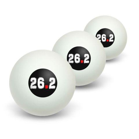 26.2 marathon running Novelty Table Tennis Ping Pong Ball 3 Pack