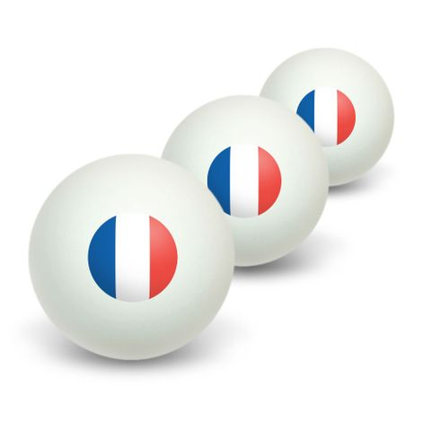 France French Flag Novelty Table Tennis Ping Pong Ball 3 Pack