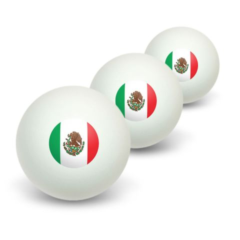 Mexico Mexican Flag Novelty Table Tennis Ping Pong Ball 3 Pack