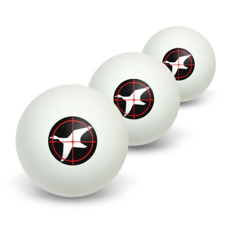 Duck Hunting Novelty Table Tennis Ping Pong Ball 3 Pack