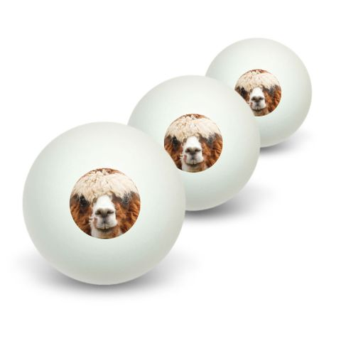 Brown Alpaca Novelty Table Tennis Ping Pong Ball 3 Pack