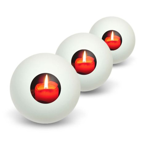 Christmas Candle - Advent Wreath Holiday Novelty Table Tennis Ping Pong Ball 3 Pack