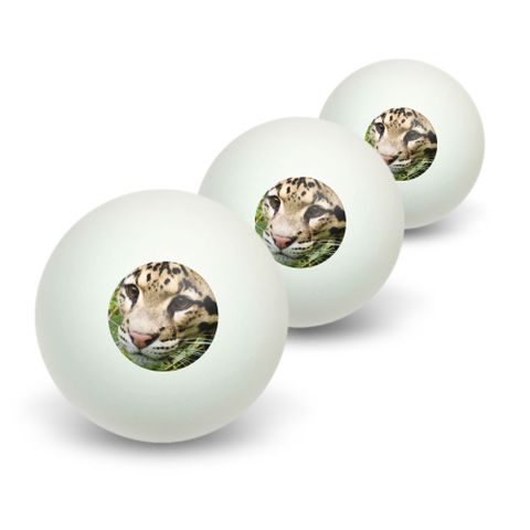 Clouded Leopard Novelty Table Tennis Ping Pong Ball 3 Pack