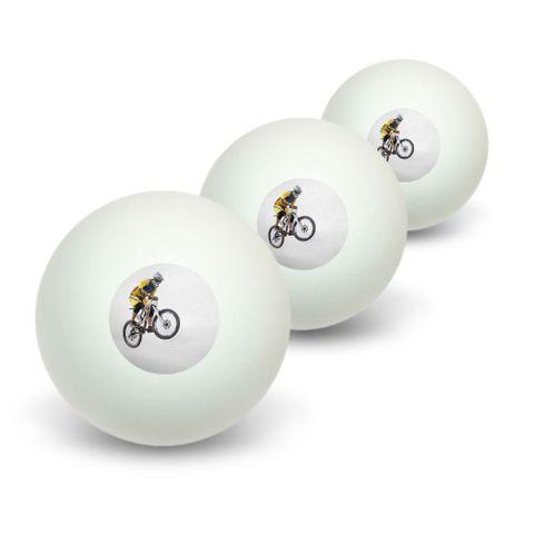 Mountain Bike Biking Novelty Table Tennis Ping Pong Ball 3 Pack