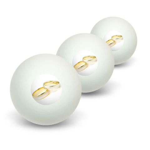 Wedding Rings - Love Romance Novelty Table Tennis Ping Pong Ball 3 Pack