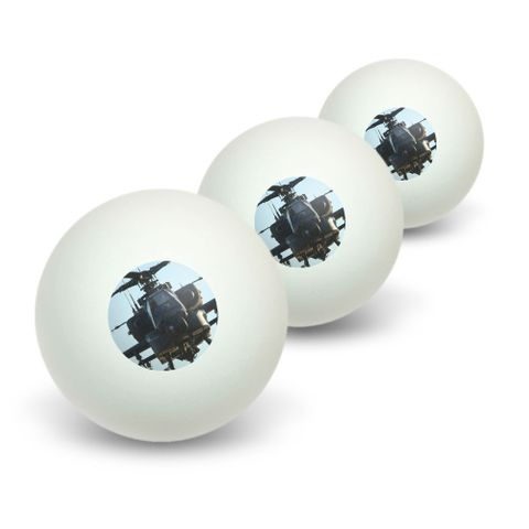 Apache Helicopter Novelty Table Tennis Ping Pong Ball 3 Pack