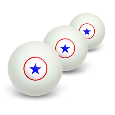 Blue Star Flag - One 1 War Mother Service Novelty Table Tennis Ping Pong Ball 3 Pack
