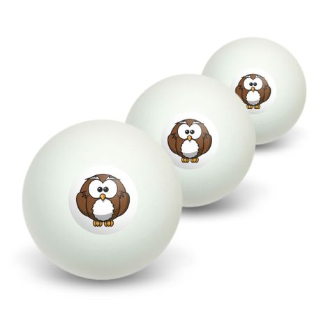 Owl Novelty Table Tennis Ping Pong Ball 3 Pack