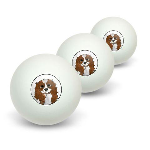 Cavalier King Charles Blenheim Novelty Table Tennis Ping Pong Ball 3 Pack