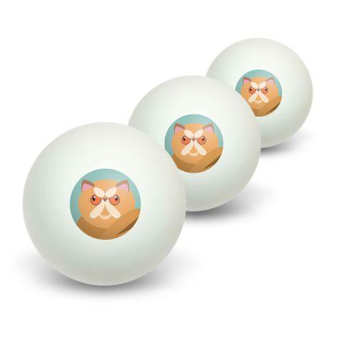 Geometric Persian Orange Novelty Table Tennis Ping Pong Ball 3 Pack