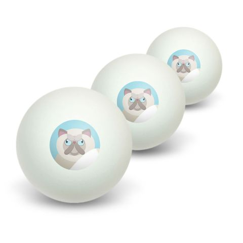Geometric Persian Cream Novelty Table Tennis Ping Pong Ball 3 Pack