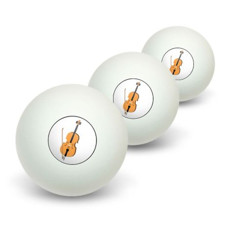 Cello - Music Novelty Table Tennis Ping Pong Ball 3 Pack