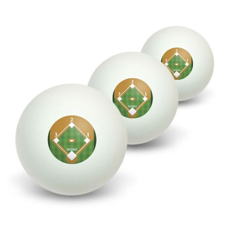 Baseball Field Novelty Table Tennis Ping Pong Ball 3 Pack