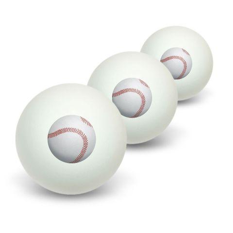 Baseball Sporting Goods Sportsball Novelty Table Tennis Ping Pong Ball 3 Pack