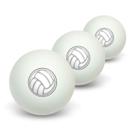 Volleyball Sporting Goods Sportsball Novelty Table Tennis Ping Pong Ball 3 Pack