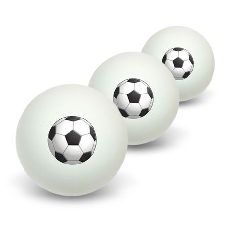 Soccer Ball Sporting Goods Sportsball Novelty Table Tennis Ping Pong Ball 3 Pack