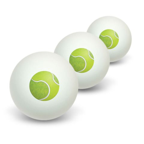 Tennis Ball Sporting Goods Sportsball Novelty Table Tennis Ping Pong Ball 3 Pack