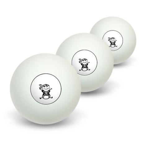 Pirate Baby Stick Figure Novelty Table Tennis Ping Pong Ball 3 Pack