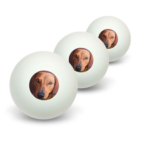 Dachshund - Weiner Dog Pet Novelty Table Tennis Ping Pong Ball 3 Pack