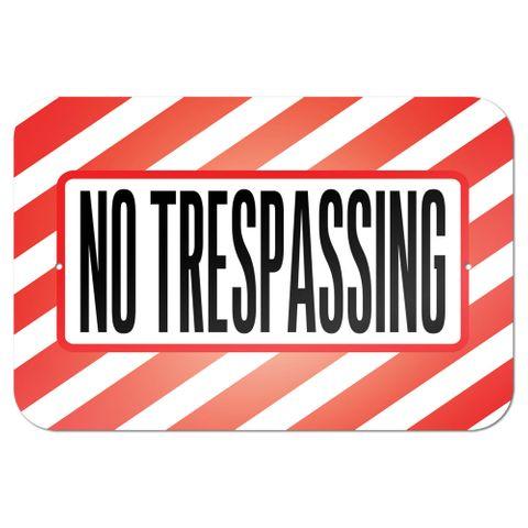 """No Trespassing 9"""" x 6"""" Metal Sign"""