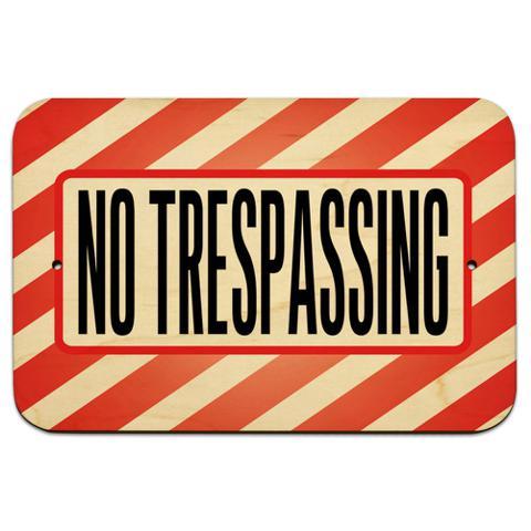 """No Trespassing 9"""" x 6"""" Wood Sign"""