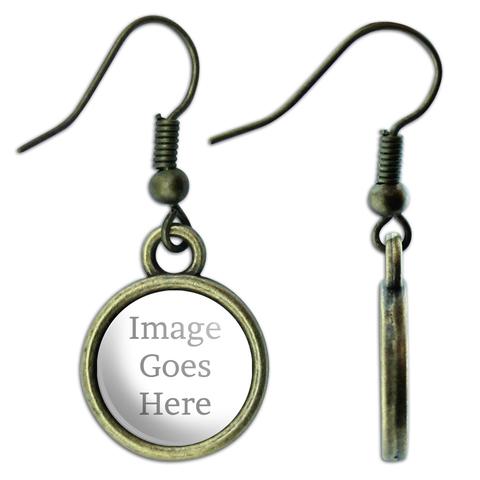 Custom Dangle Drop Brass Earrings