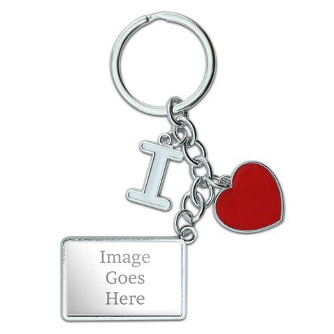 Custom I Heart Love Keychain