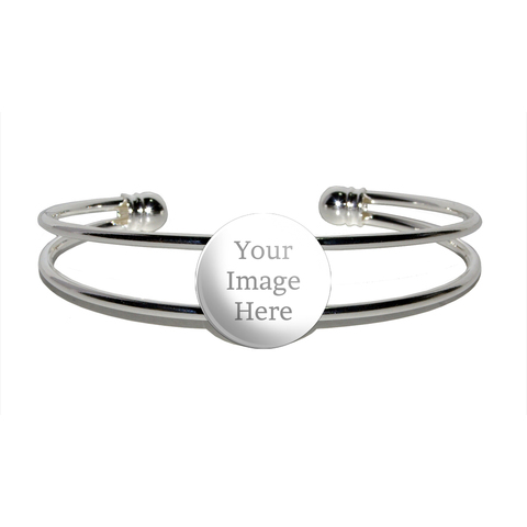 Custom Silver Plated Metal Cuff Bracelet