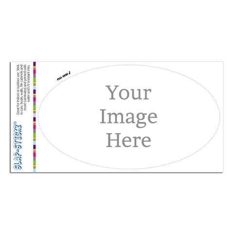 Custom Euro Oval SLAP-STICKZ(TM) Premium Sticker