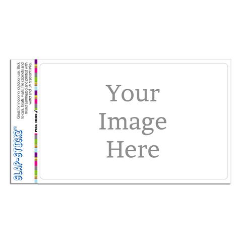 Custom SLAP-STICKZ(TM) Premium Horizontal Sticker