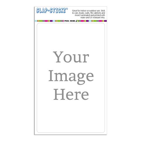 Custom SLAP-STICKZ(TM) Premium Vertical Sticker