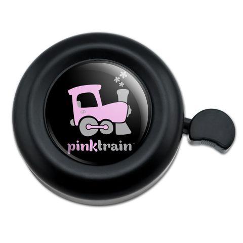 Pink Train Engine Steam Locomotive Logo Bicycle Handlebar Bike Bell