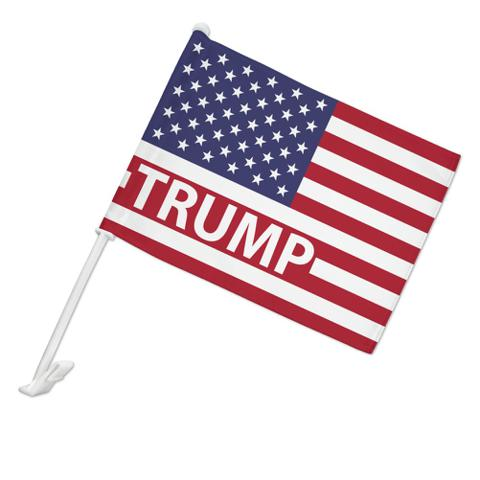 President Trump American Flag Car Truck Flag with Window Clip On Pole Holder