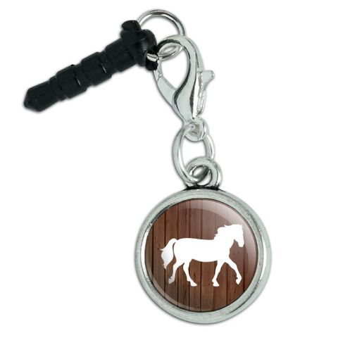 Horse Silhouette Cowboy Western Mobile Cell Phone Headphone Jack Anti-Dust Charm fits iPhone iPod Galaxy