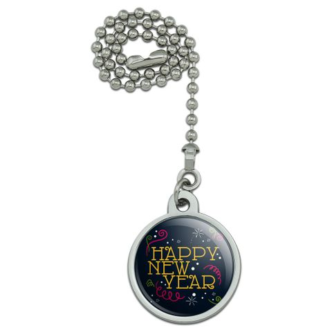 Happy New Year Ceiling Fan and Light Pull Chain
