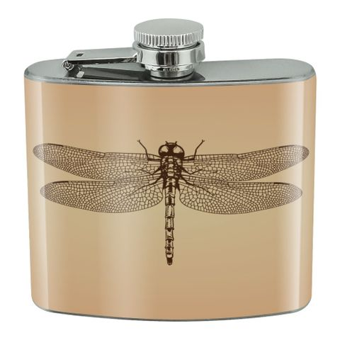 Dragonfly Vintage Insect Stainless Steel 5oz Hip Drink Kidney Flask