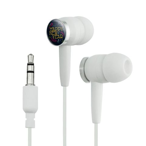 Happy New Year Novelty In-Ear Earbud Headphones
