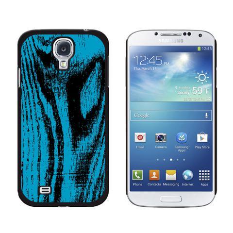 Wood Grain Blue Galaxy S4 Case