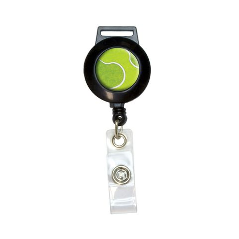 Tennis Ball Sporting Goods Sportsball Retractable Badge Card ID Holder