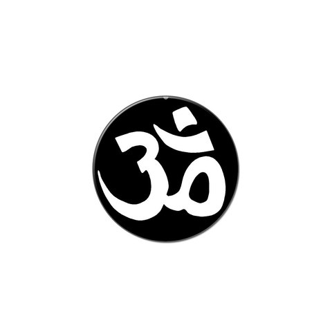 10712390ad8a1a Om Aum Yoga Namaste White On Black Lapel Hat Pin Tie Tack Small Round -  Graphics And More