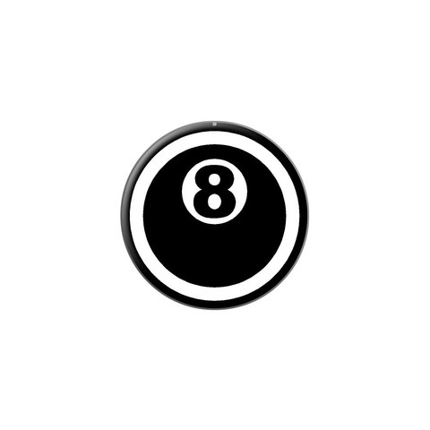 267757aa24a380 Eight Ball - Pool Billiards Lapel Hat Pin Tie Tack Small Round - Graphics  And More