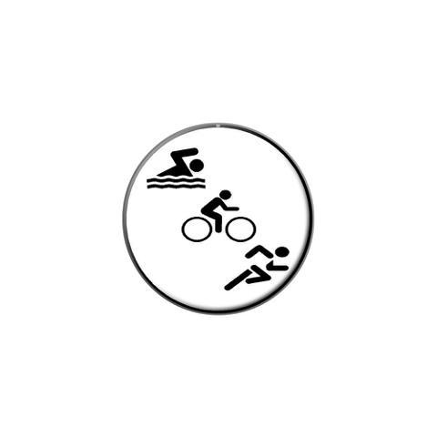 db5882e8742b61 Triathlete Swim Bike Run - Triathlon Lapel Hat Pin Tie Tack Small Round -  Graphics And More